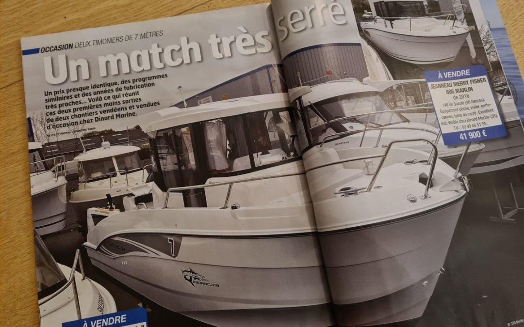 Comparatif de deux occasions dans le magazine Moteur Boat