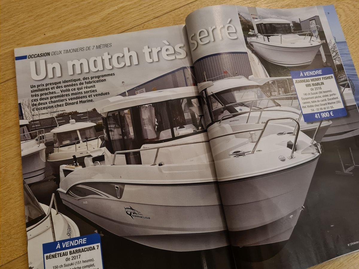 Occasion Dinard Marine dans le Moteur Boat Magazine n°374 Février 2021