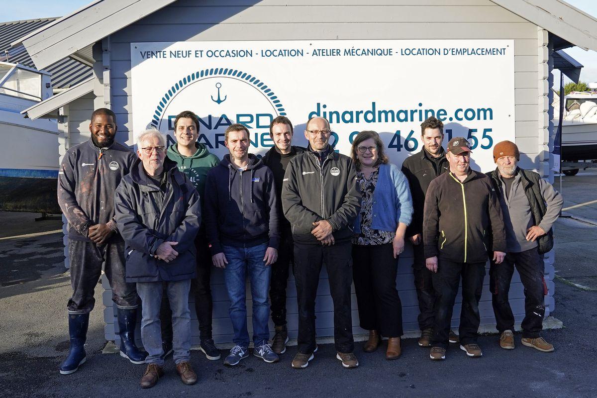 Dinard Marine est composée d'une équipe de professionnels
