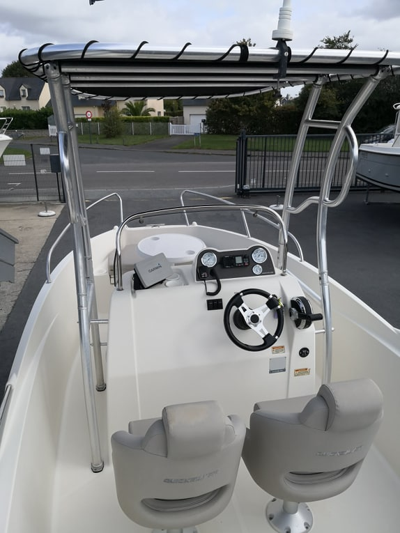 T-Top sur Quicskilver 555 open Activ + Mercury 115 Cv